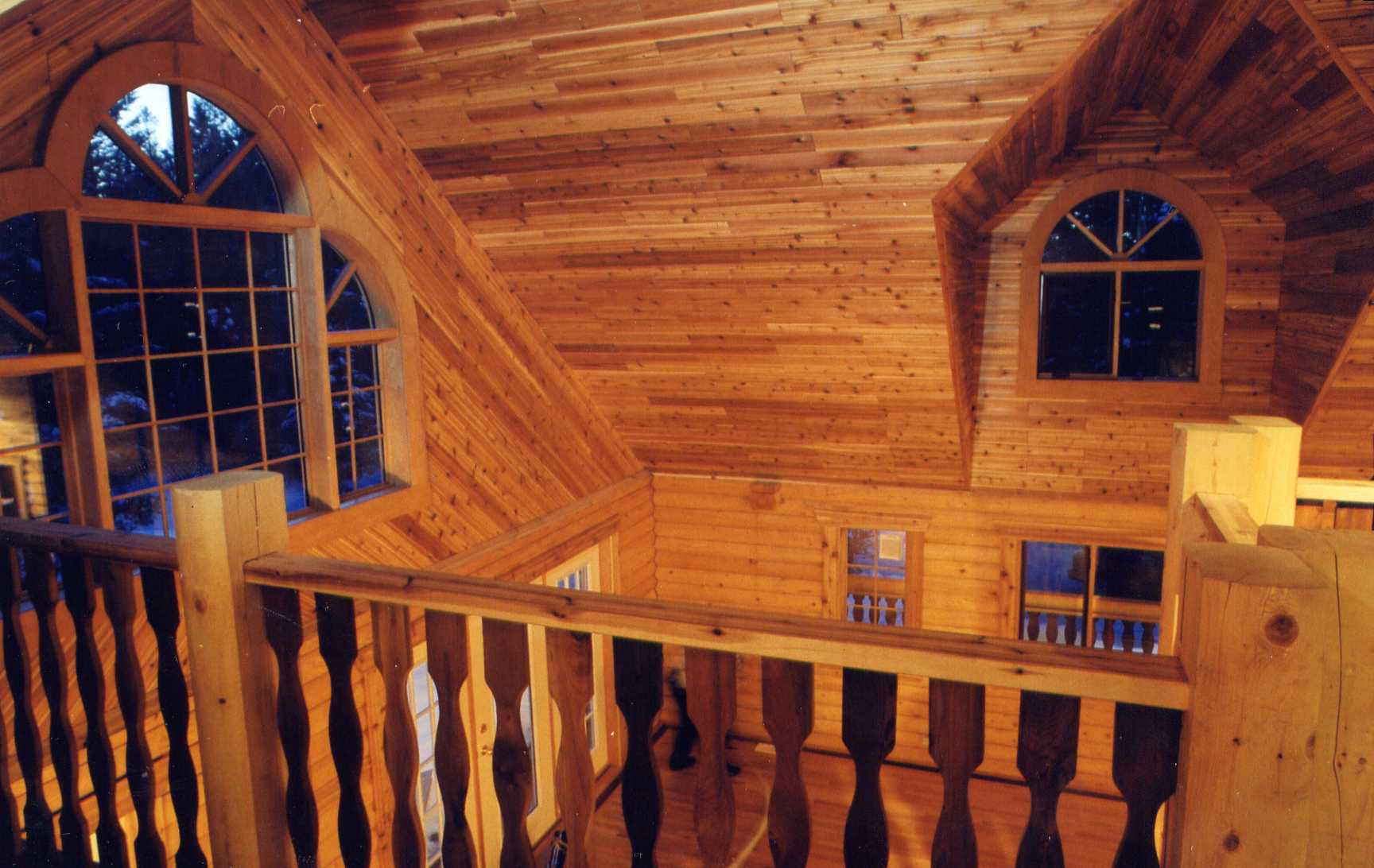 Interior view of a cub dormer from the open loft