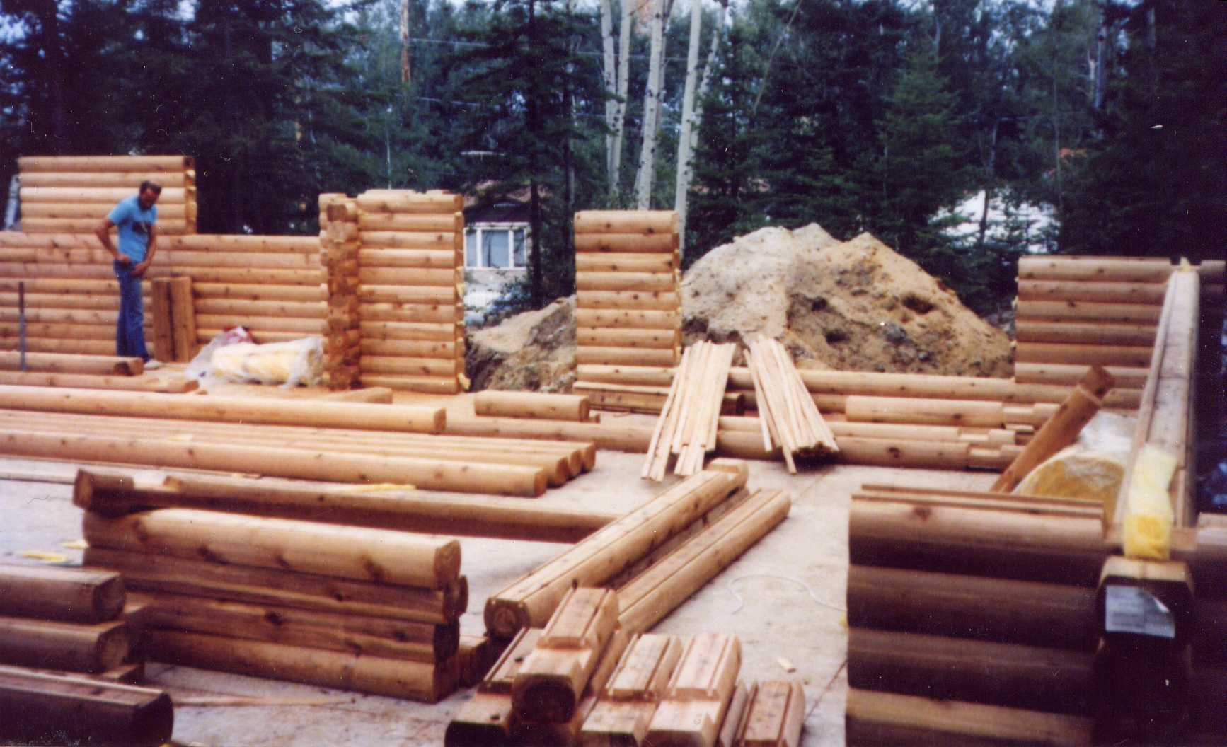 Log Package assembly - door and window openings