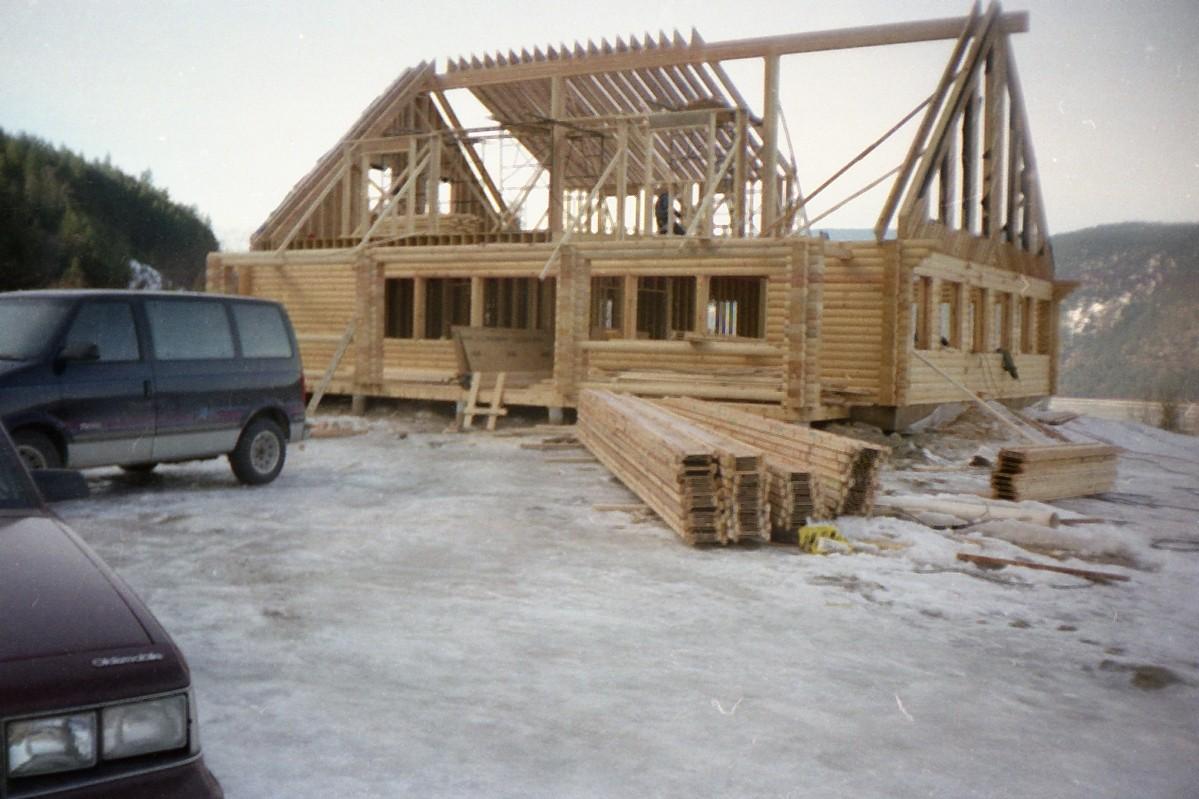 Ridge beam and rafters