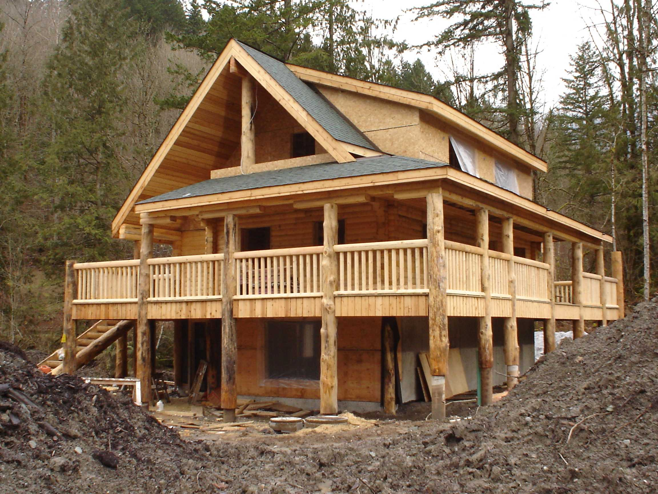 Slideshow Of Machined Log Home Construction 187 Northern Log