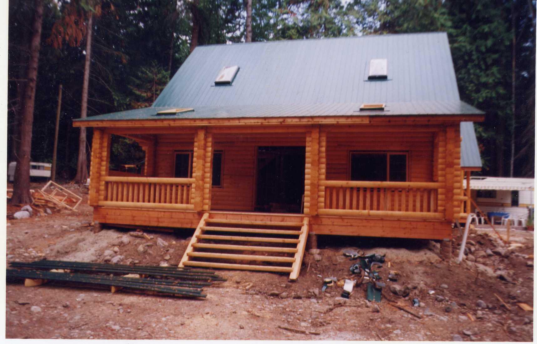 Slideshow Of Machined Log Home Construction Northern Log